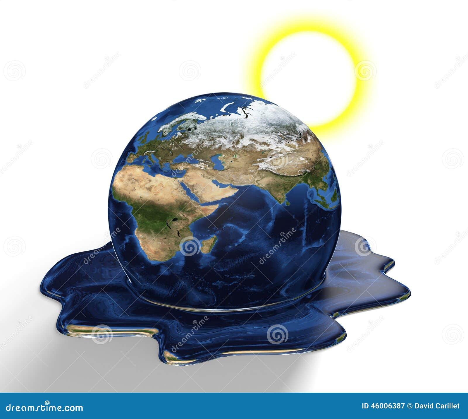 Konserwaci pojęcie Ziemski stapianie od zmiany klimatu i globalnego nagrzania, części ten wizerunek meblujący NASA