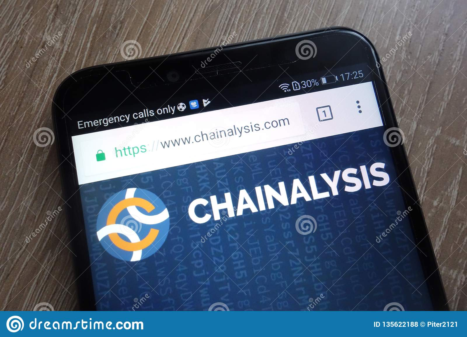 Chainalysis Fintech Company Website Displayed On A Modern ...
