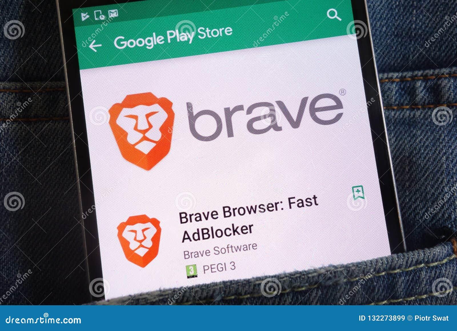 Brave Browser App On Google Play Store Website Displayed On