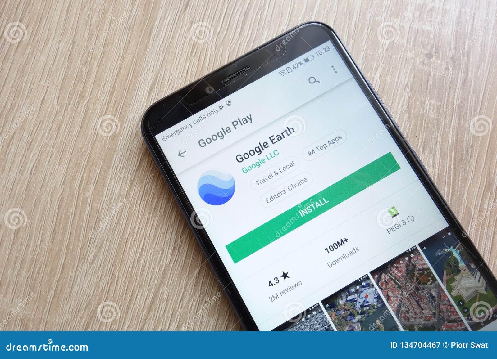 Google Earth App On Google Play Store Website Displayed On Huawei Y6
