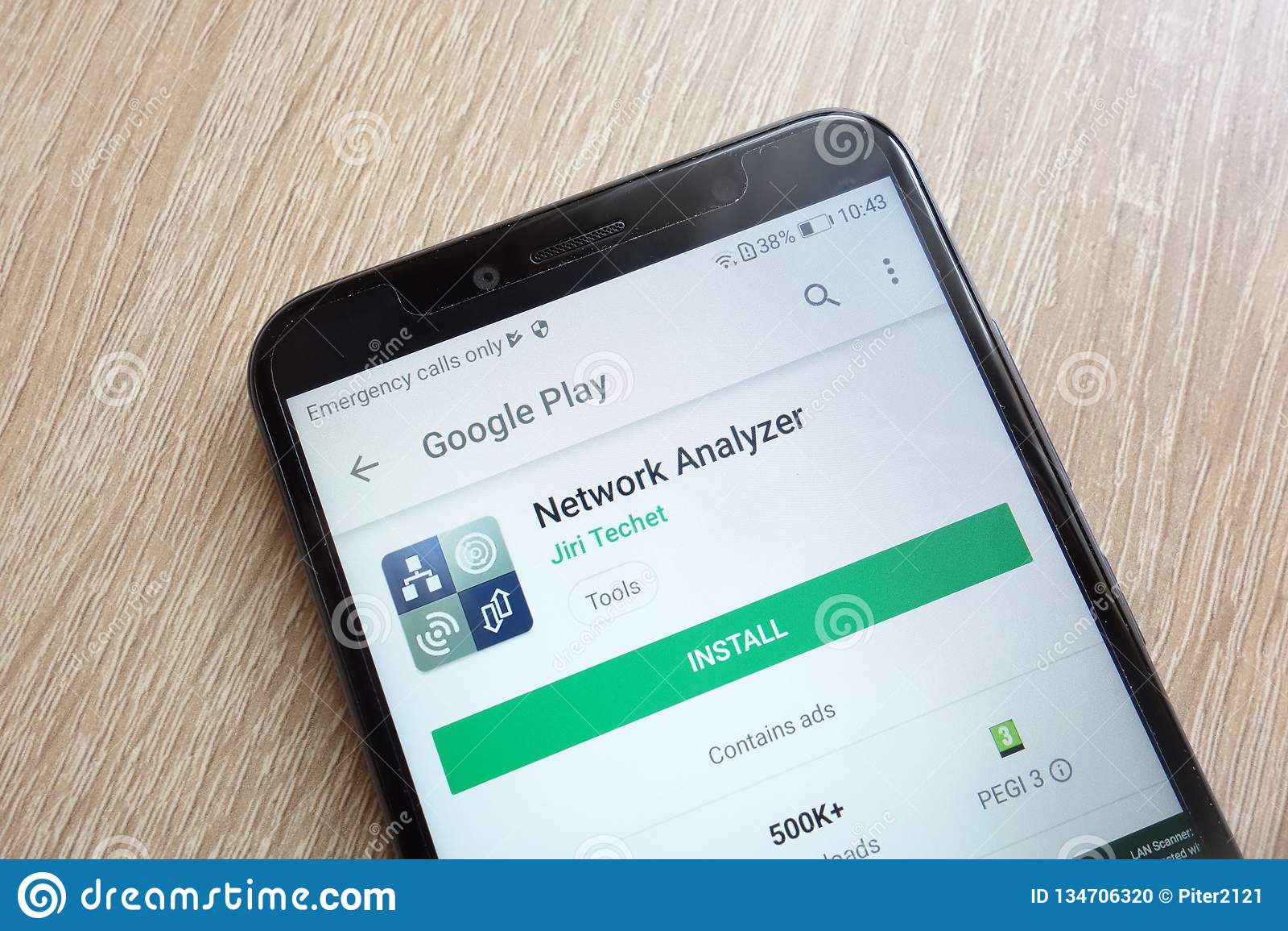 Network Analyzer App On Google Play Store Website Displayed