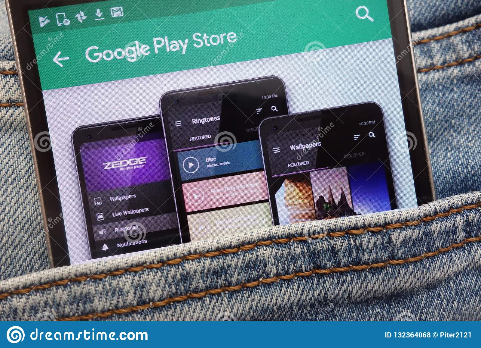 Zedge App On Google Play Store Website Displayed On ...