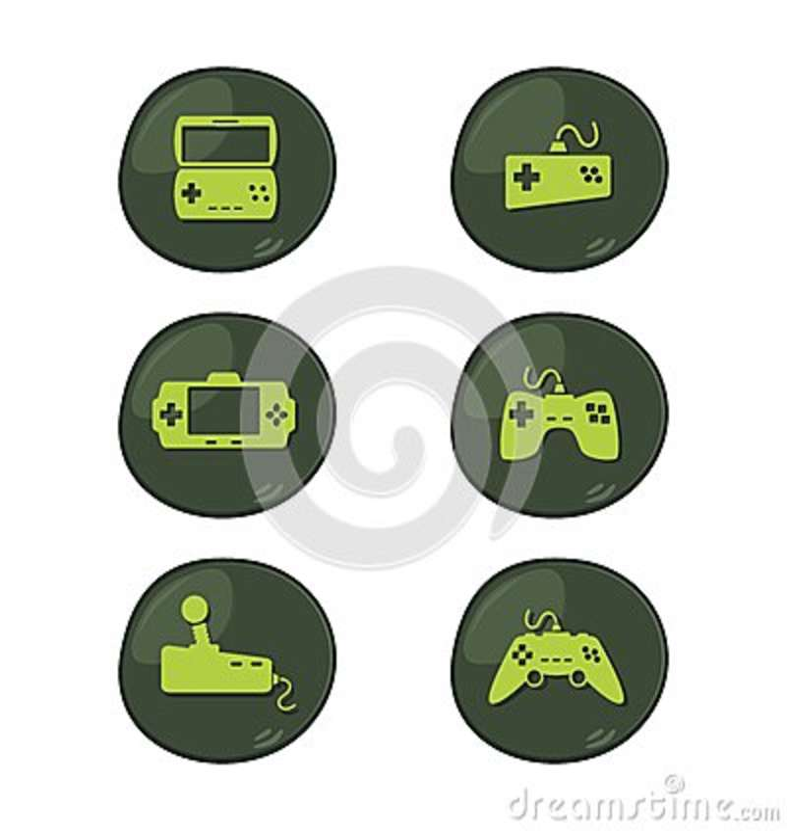 Konsoli gemowy ikony set