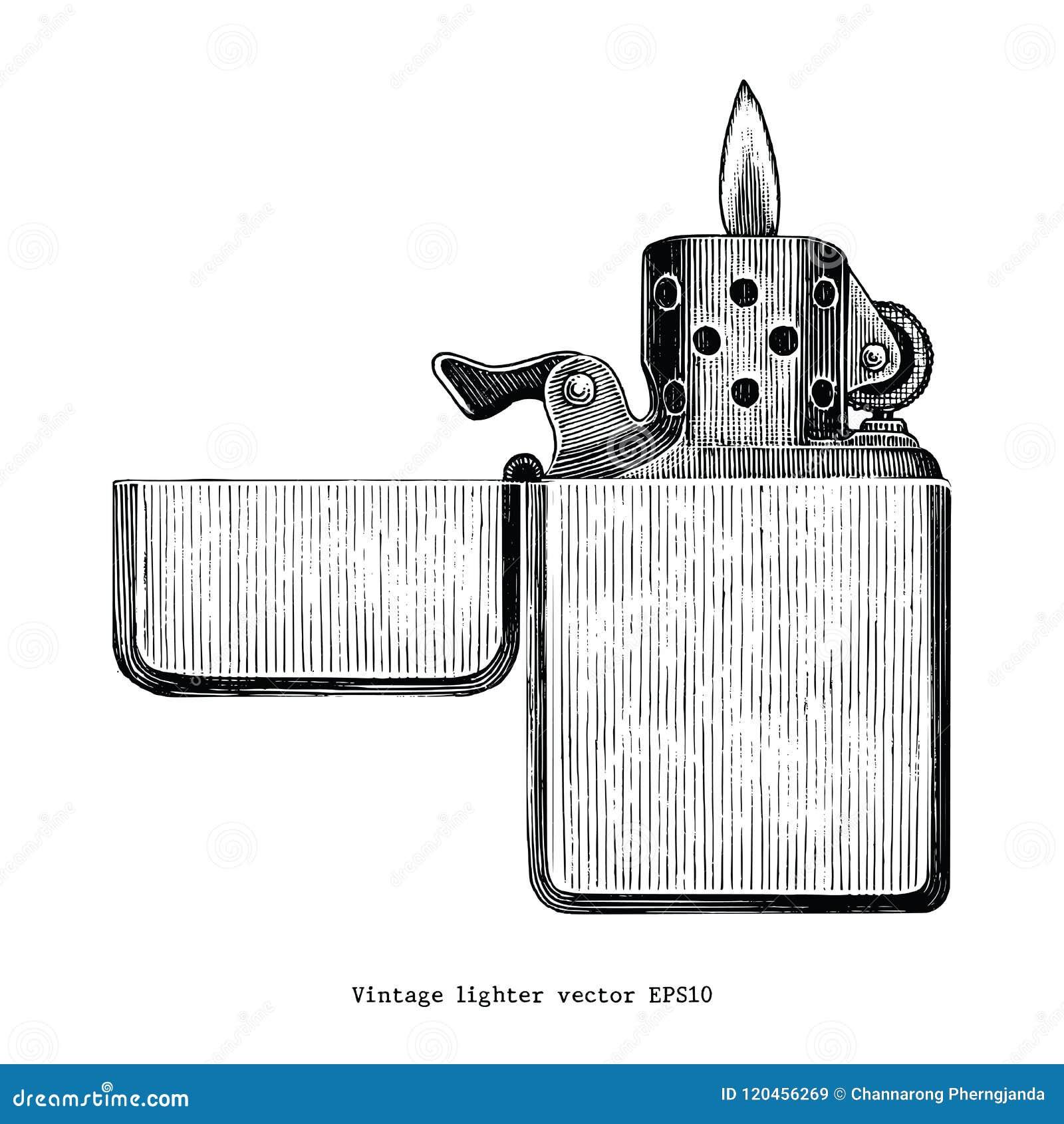 Konst för gem för teckning för tappningtändarehand som isoleras på den vita backgrouen