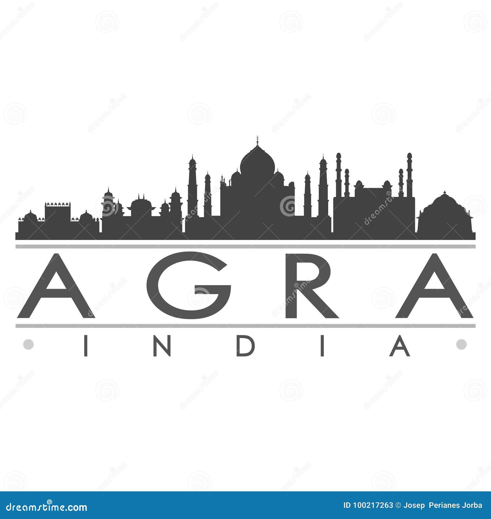 Konst för vektor för stad för Agra konturdesign