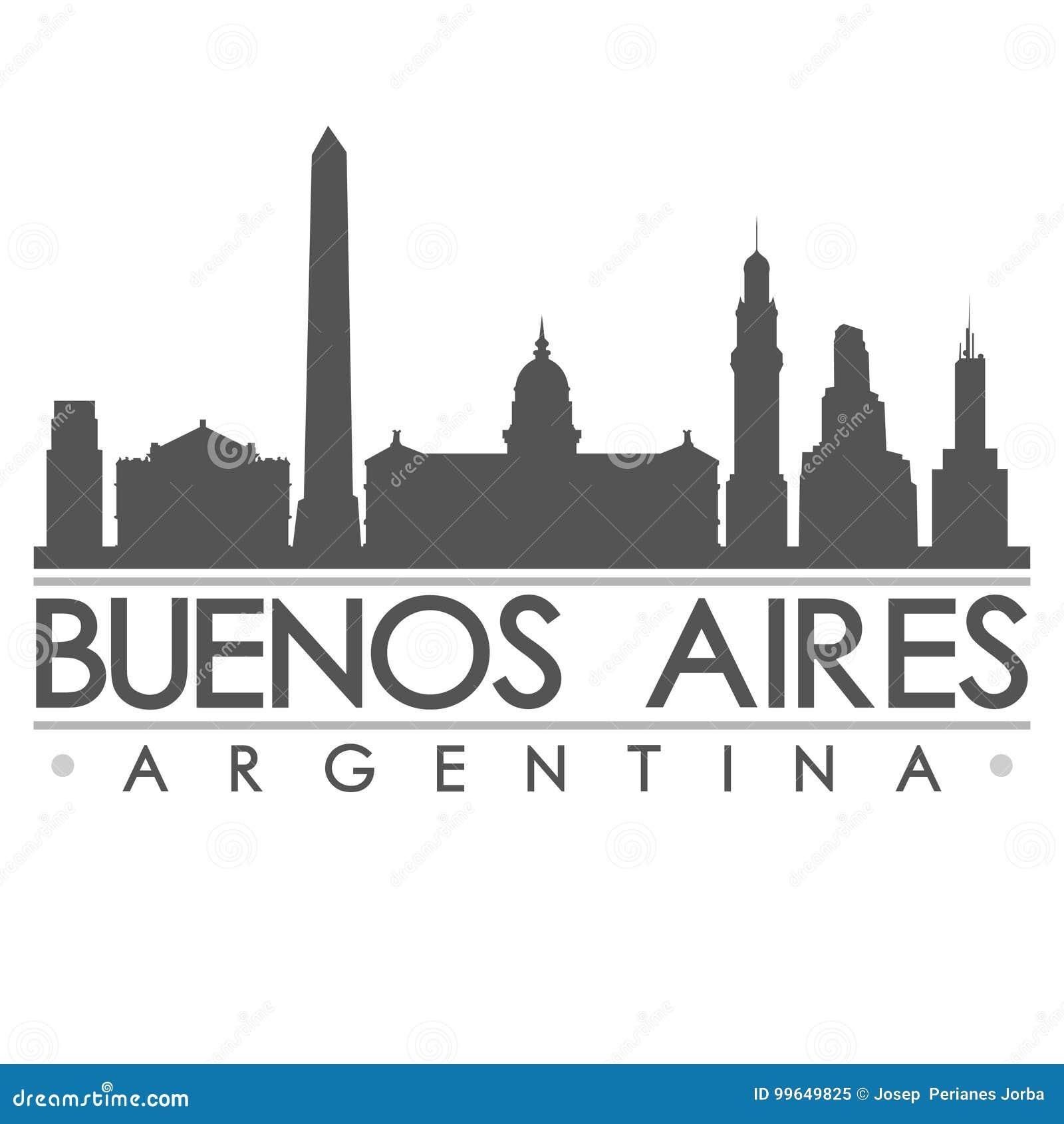 Konst för vektor för stad för design för Buenos Aires horisontkontur