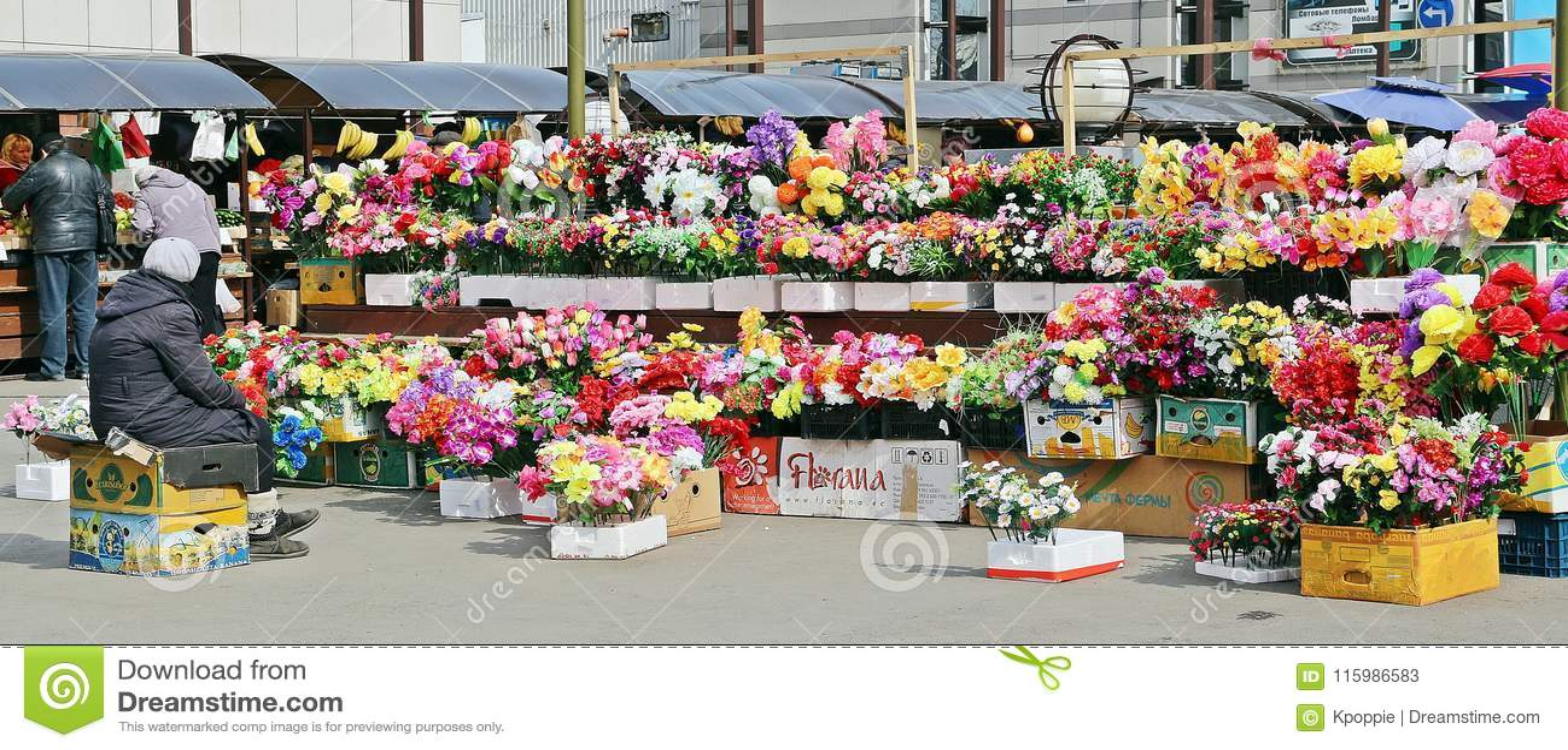 Konstgjord blomsterhandel