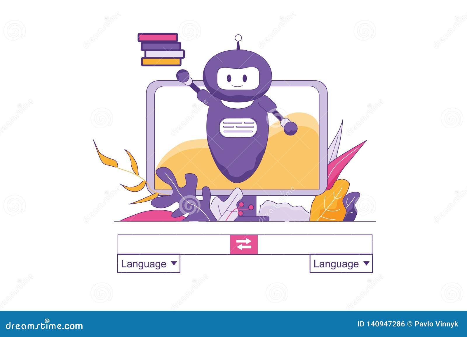 Konstgjord intelligens översätter text direktanslutet