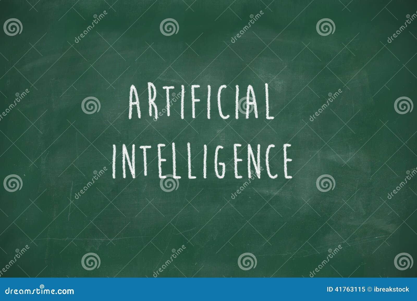Konstgjord intelligens som är handskriven på svart tavla