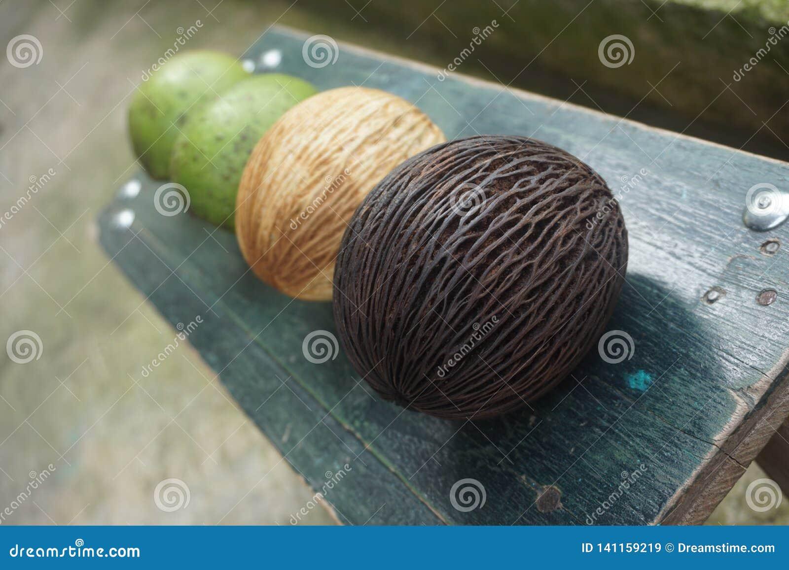 Konstig frukt och guavafrukt
