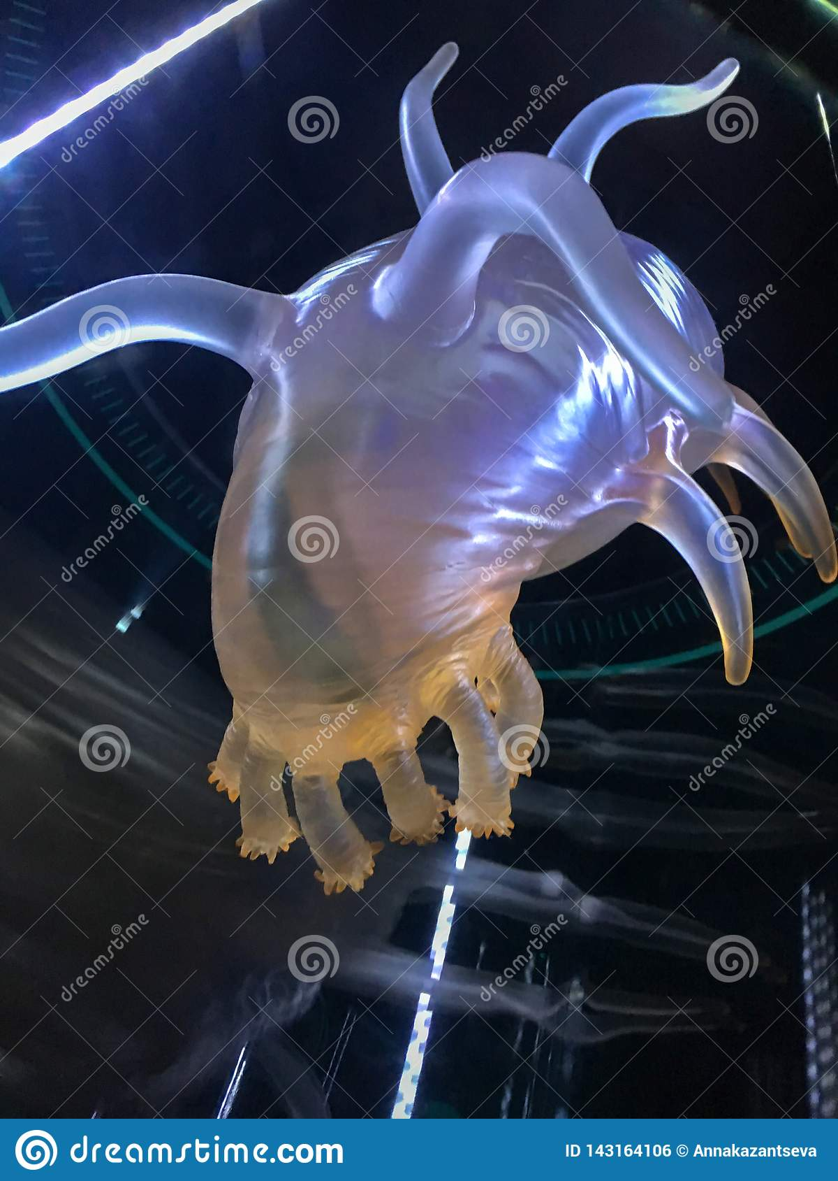 Konstigt djuphavs- djur Plast- modell