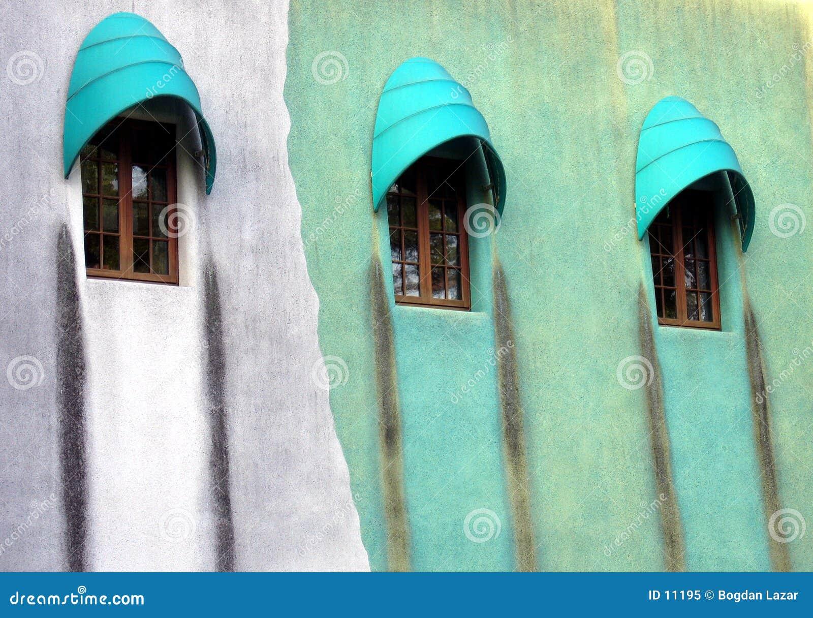 Konstigt fönster för design