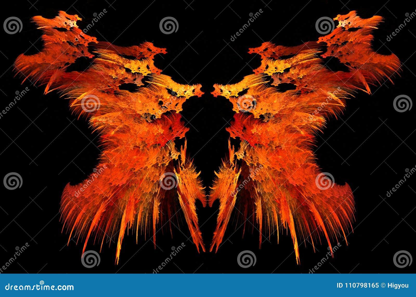 Konstigt spegelförsett abstrakt begrepp för flamma