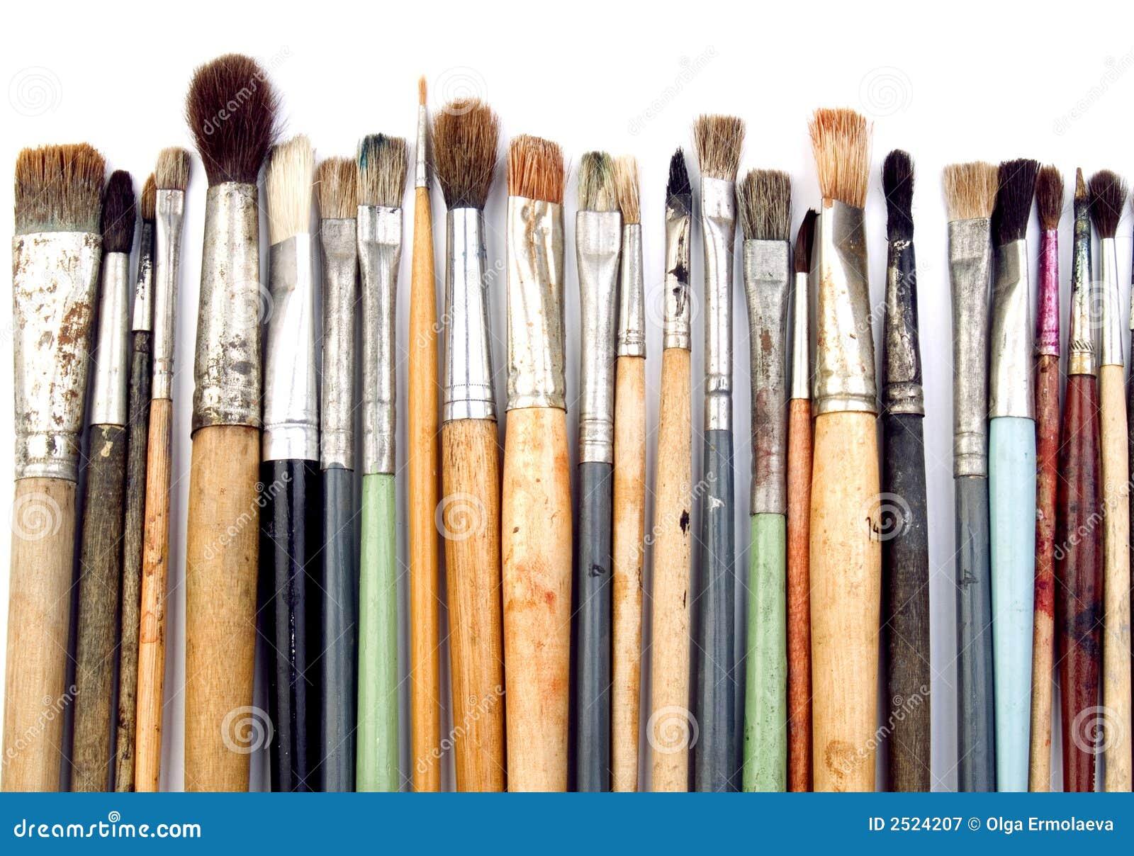 Konstnären brushes s