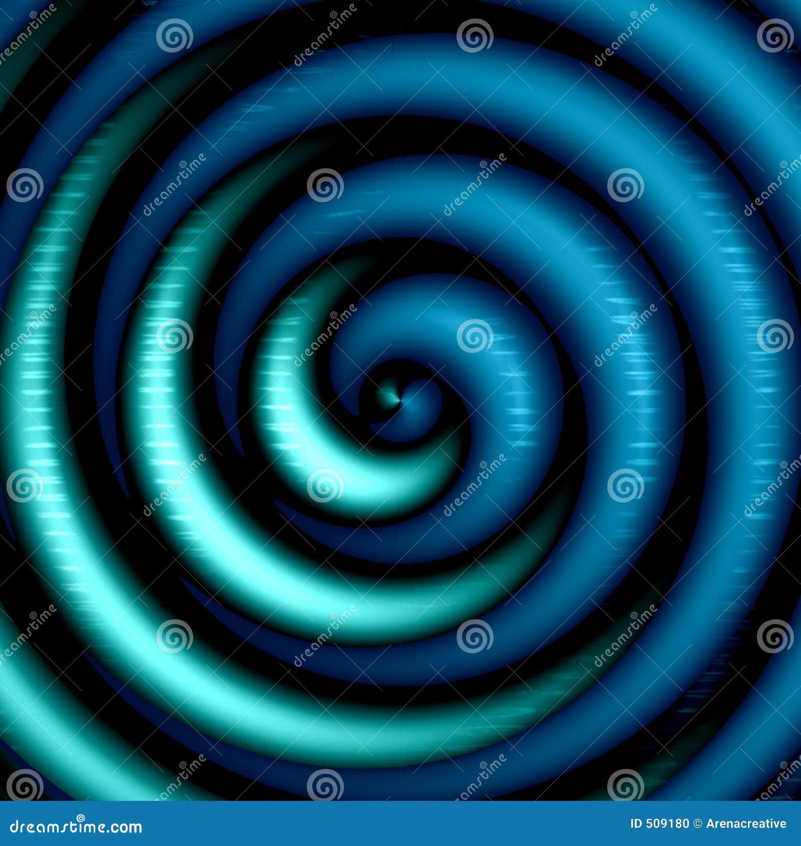 Konstnärlig blå spiral
