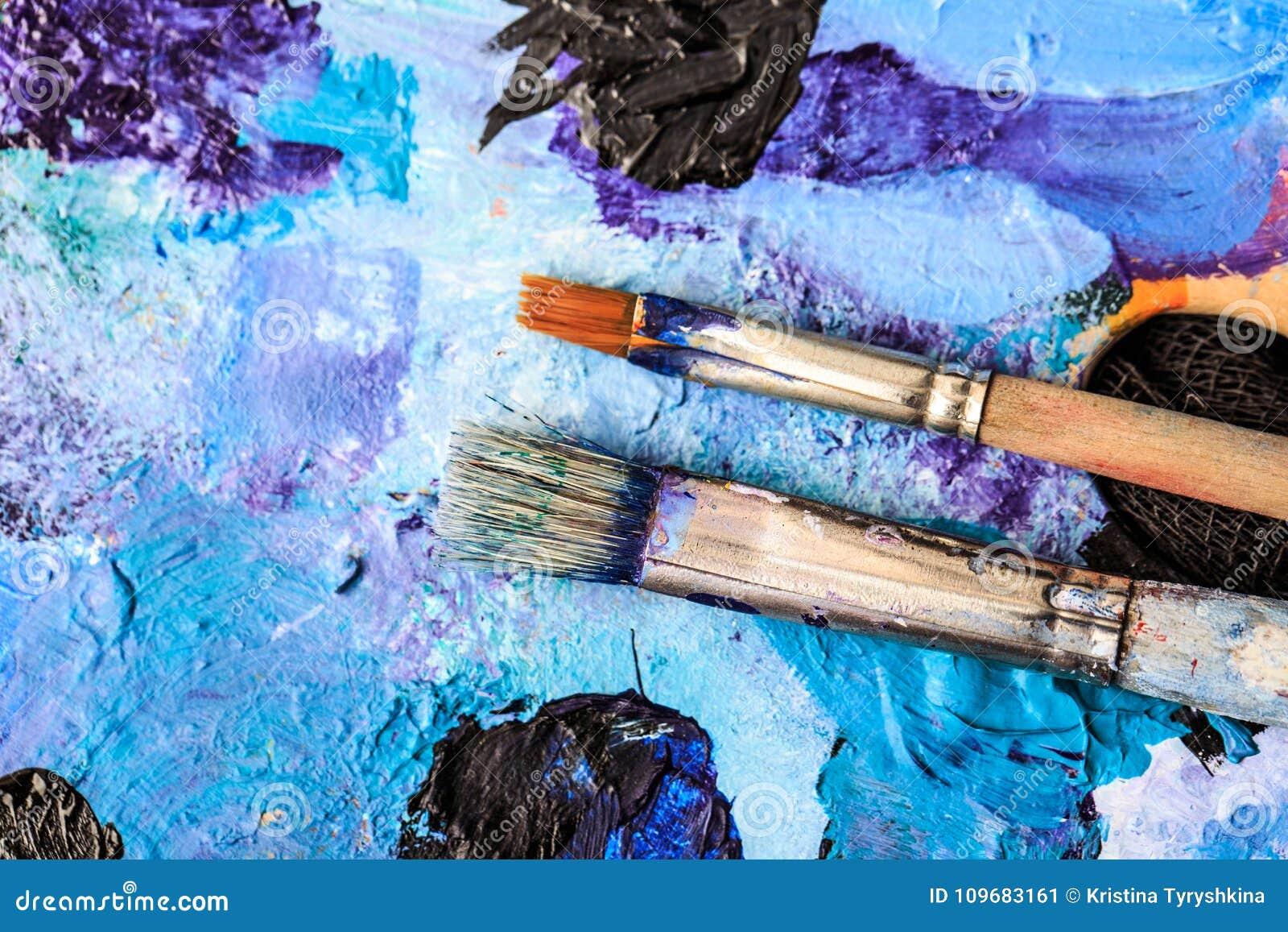 Konstnärlig utrustning Borstar och målarfärger för att dra Objekt för kreativitet för barn` s