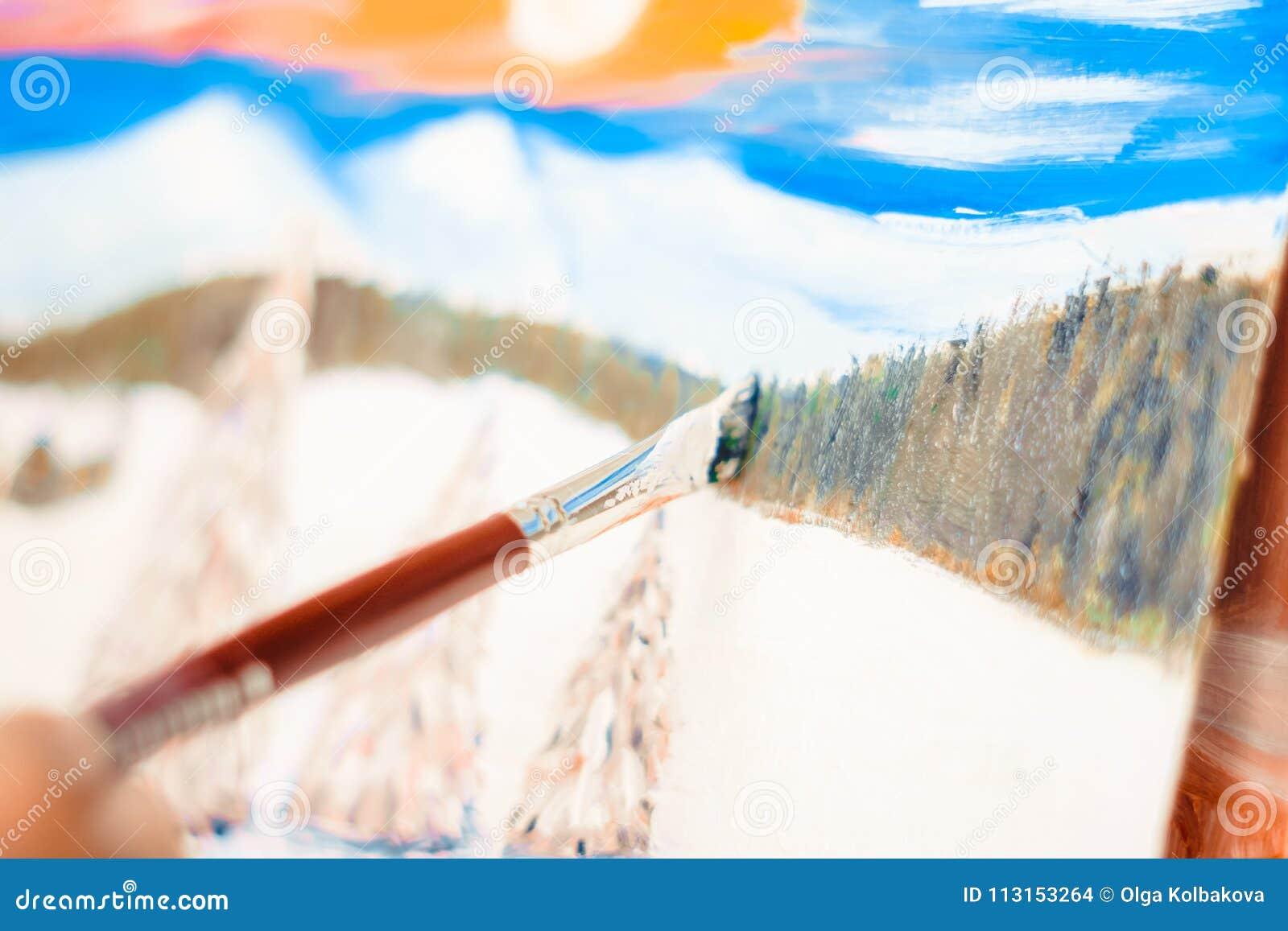 Konstnärmålarfärgerna med olja