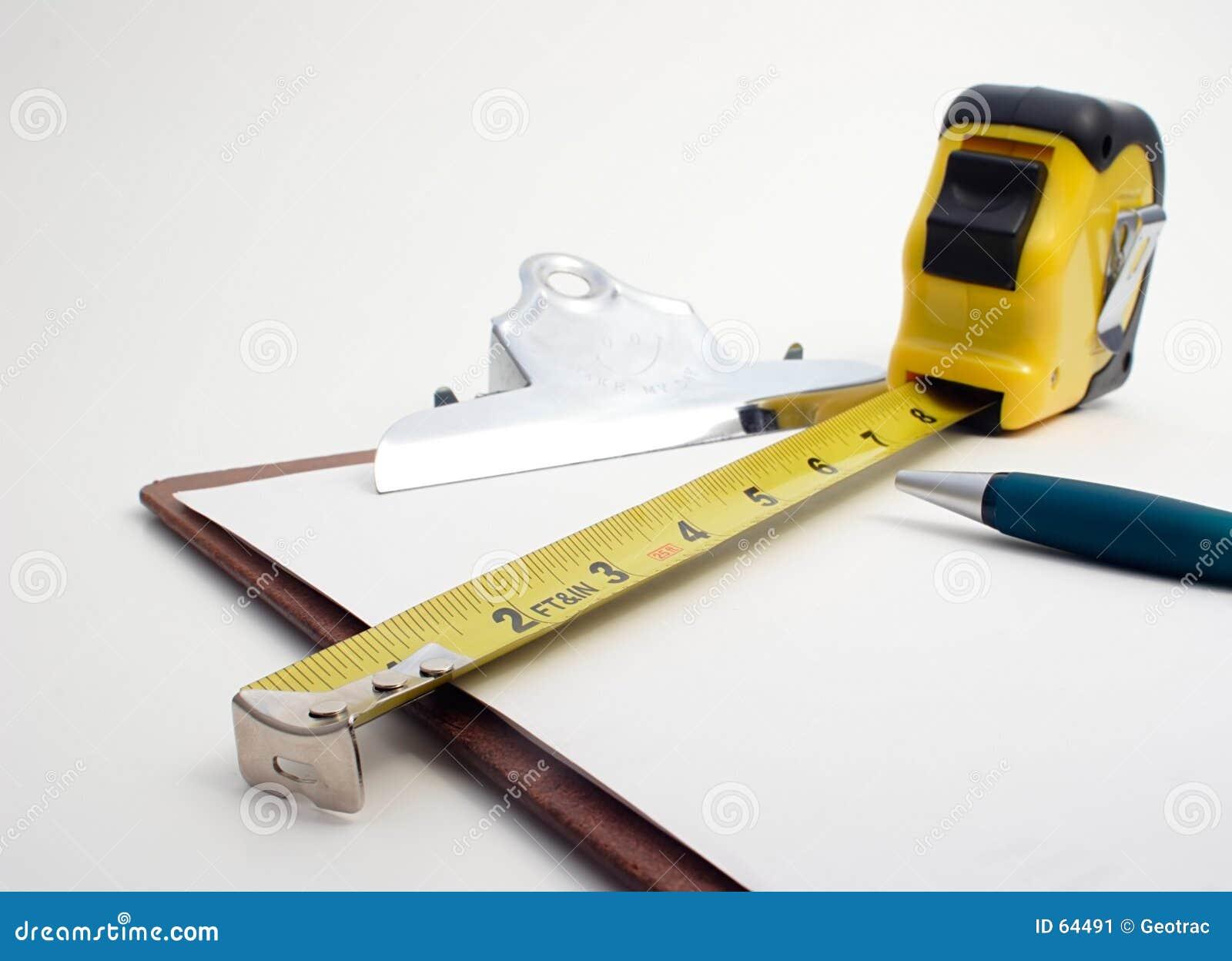 Konstruktion som beräknar mätande hjälpmedel