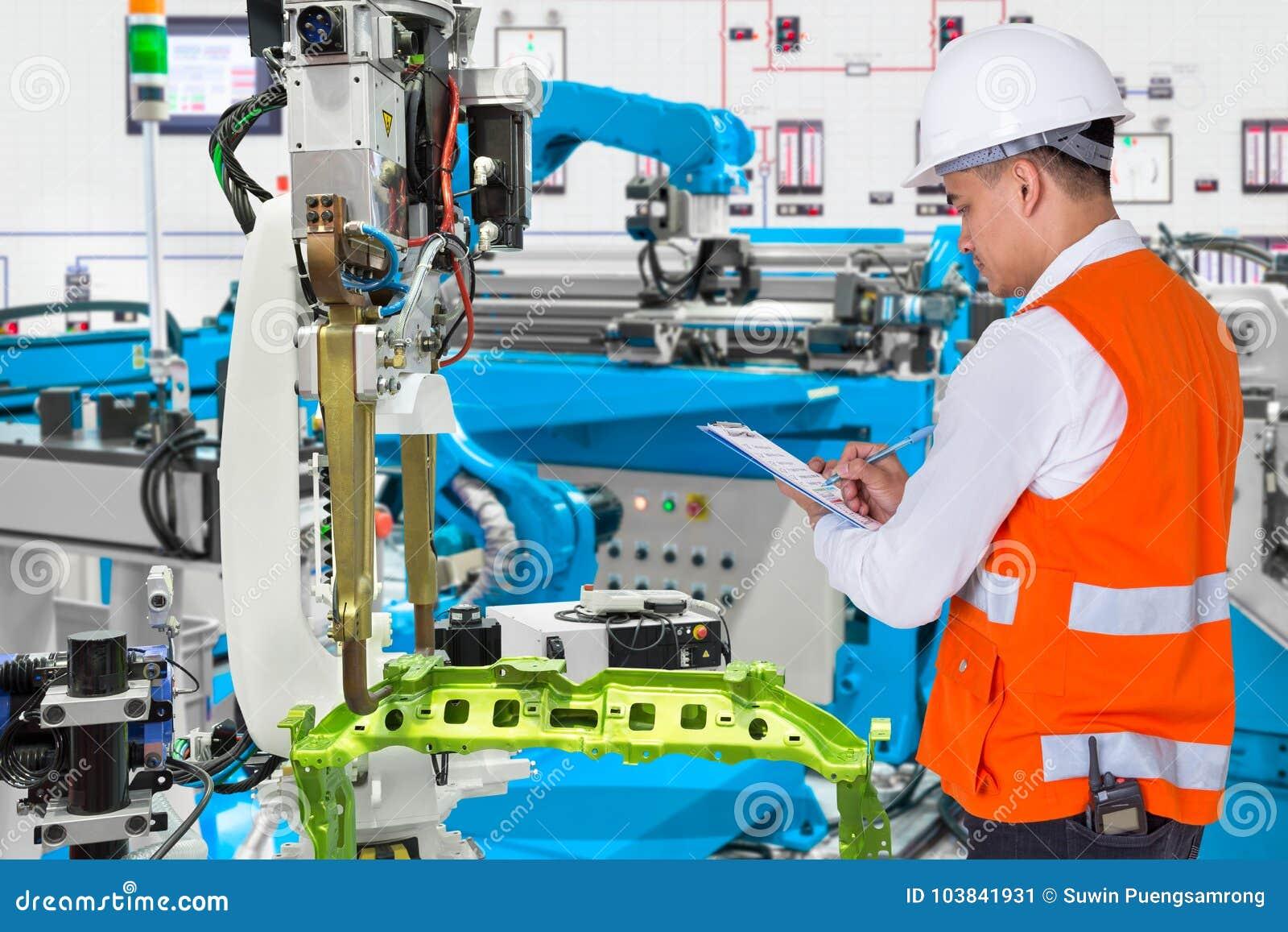 Konstruuje czeka utrzymania dziennika automatyzujący automobilowy robot