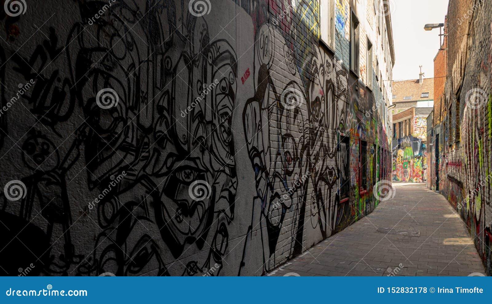 Konstverksikt på grafittigatan