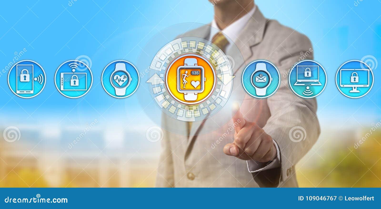 Konsultant Oferuje Smartwatch Tropi tętno