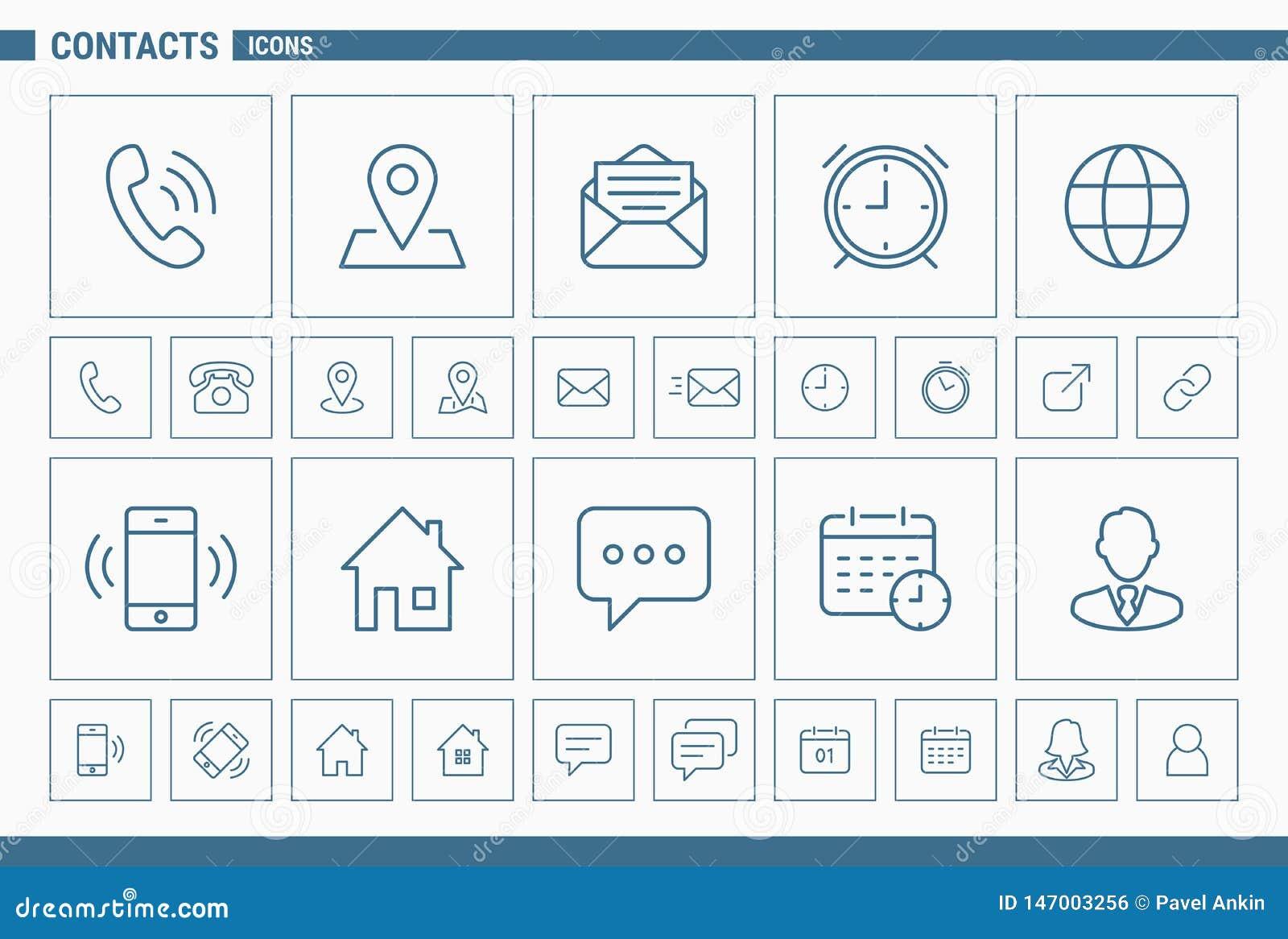 Kontakt ikony - Ustalona sieć 02 i wisząca ozdoba