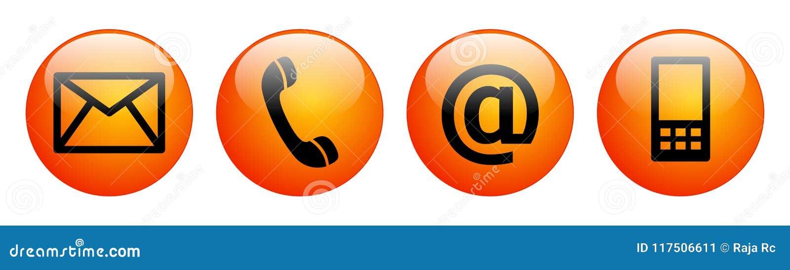 Kontaktuje się my sieć guzików czerwieni pomarańcze