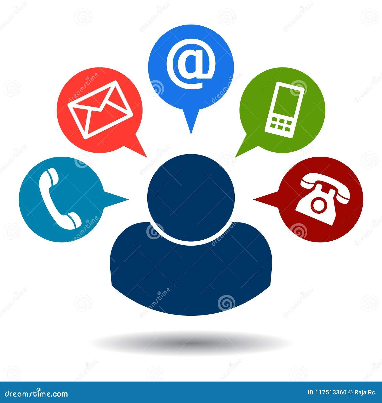 Kontaktuje się my wywoławcze poczta ikony