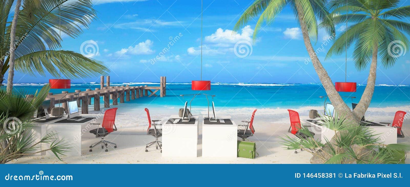 Kontor i stranden