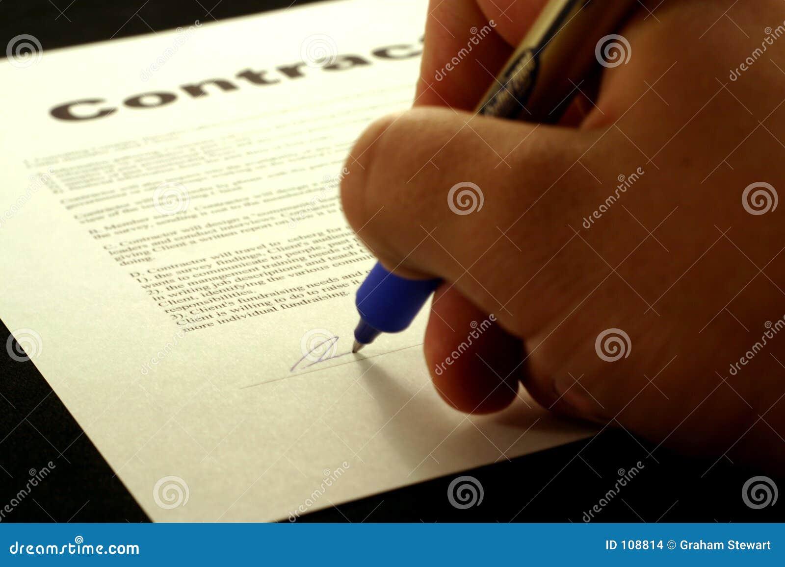 Kontraktskrivning