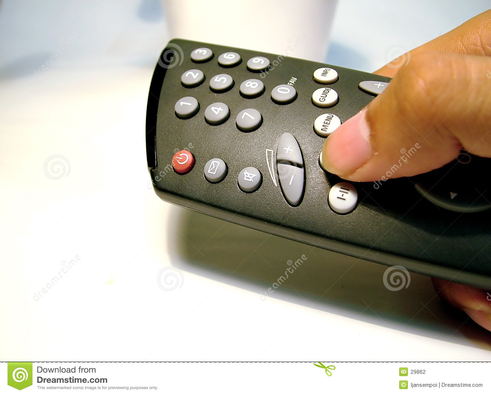 Kontrola pilota tv