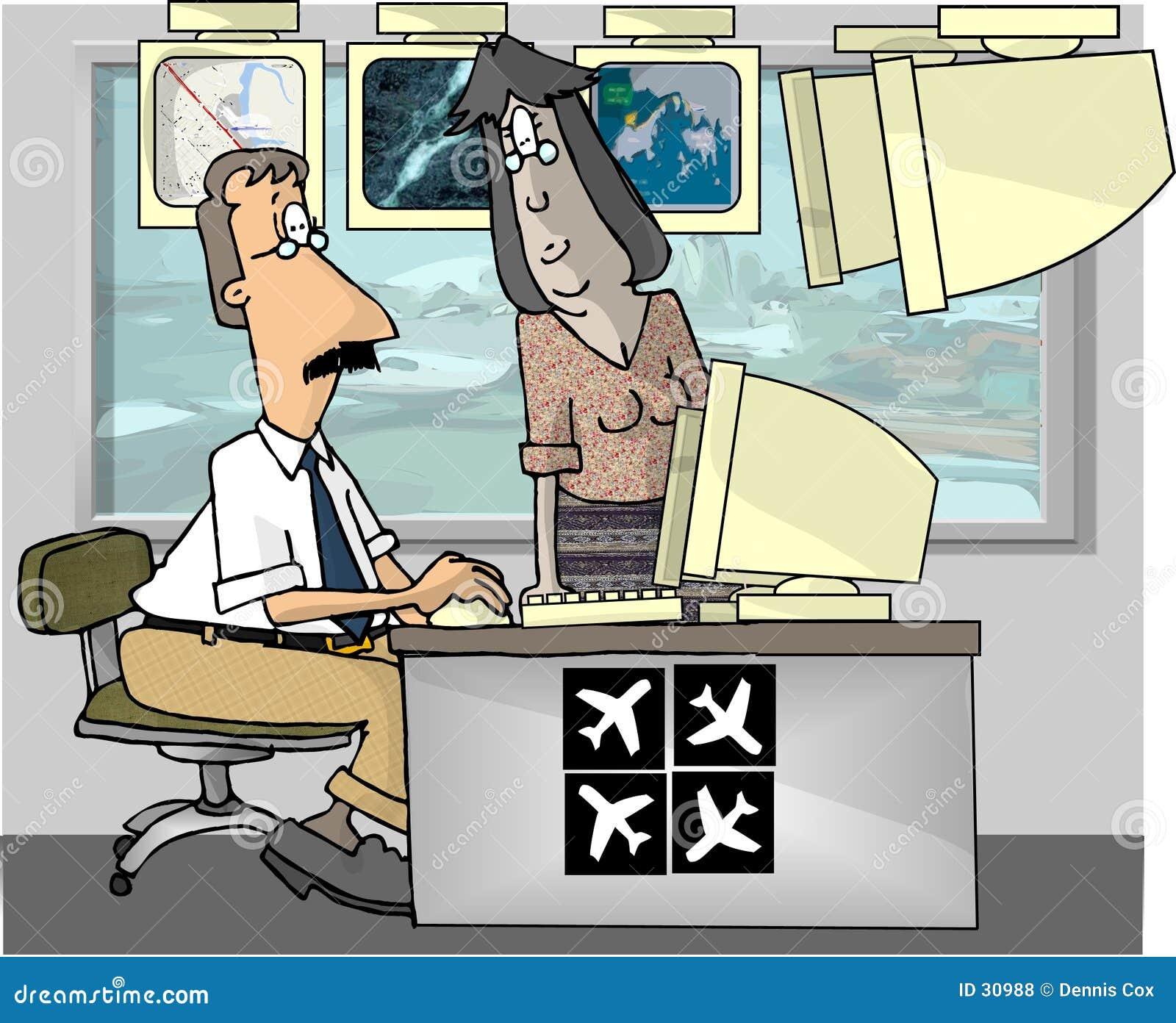 Kontrolerów lotniczych ruchu