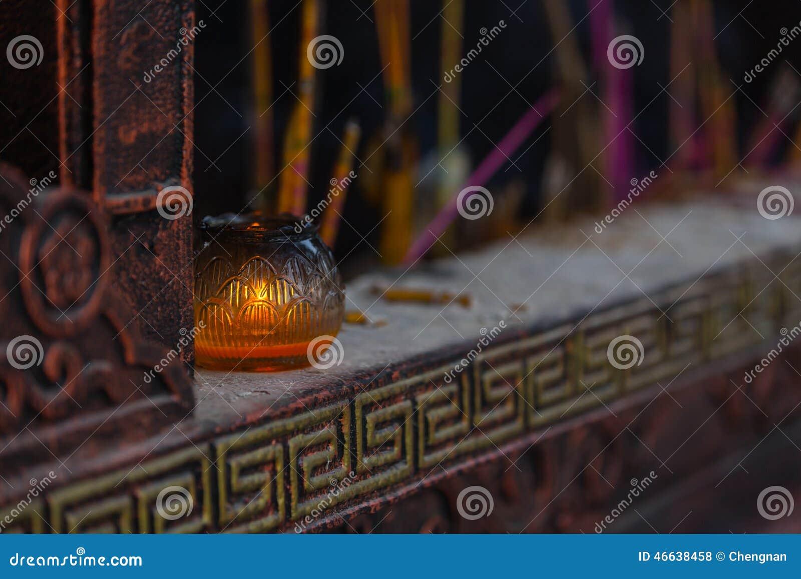 Kontroll-Lampe des Tempels