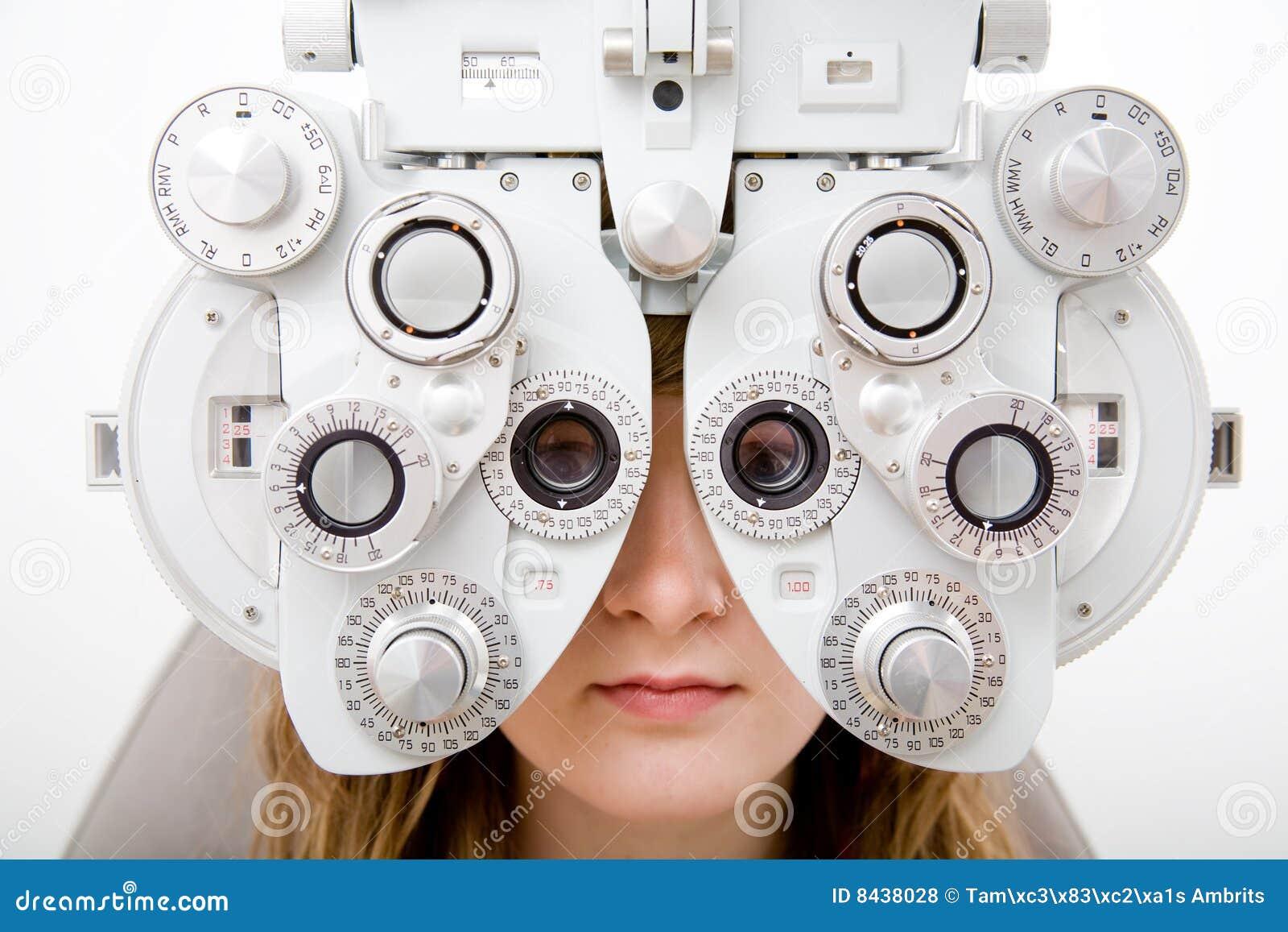 Kontrollera den arbets- oftalmologitålmodign