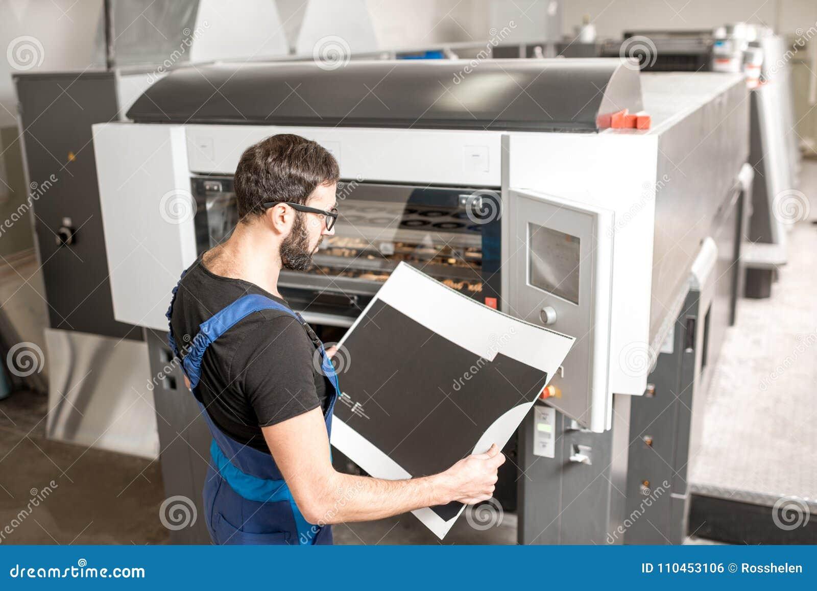 Kontrollera printingkvalitet på printingväxten