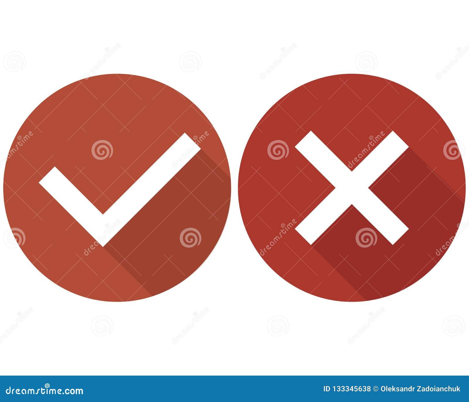 Kontrollera uppsättningen, gräsplan och rött för asklistasymboler som isoleras på vit bakgrund,
