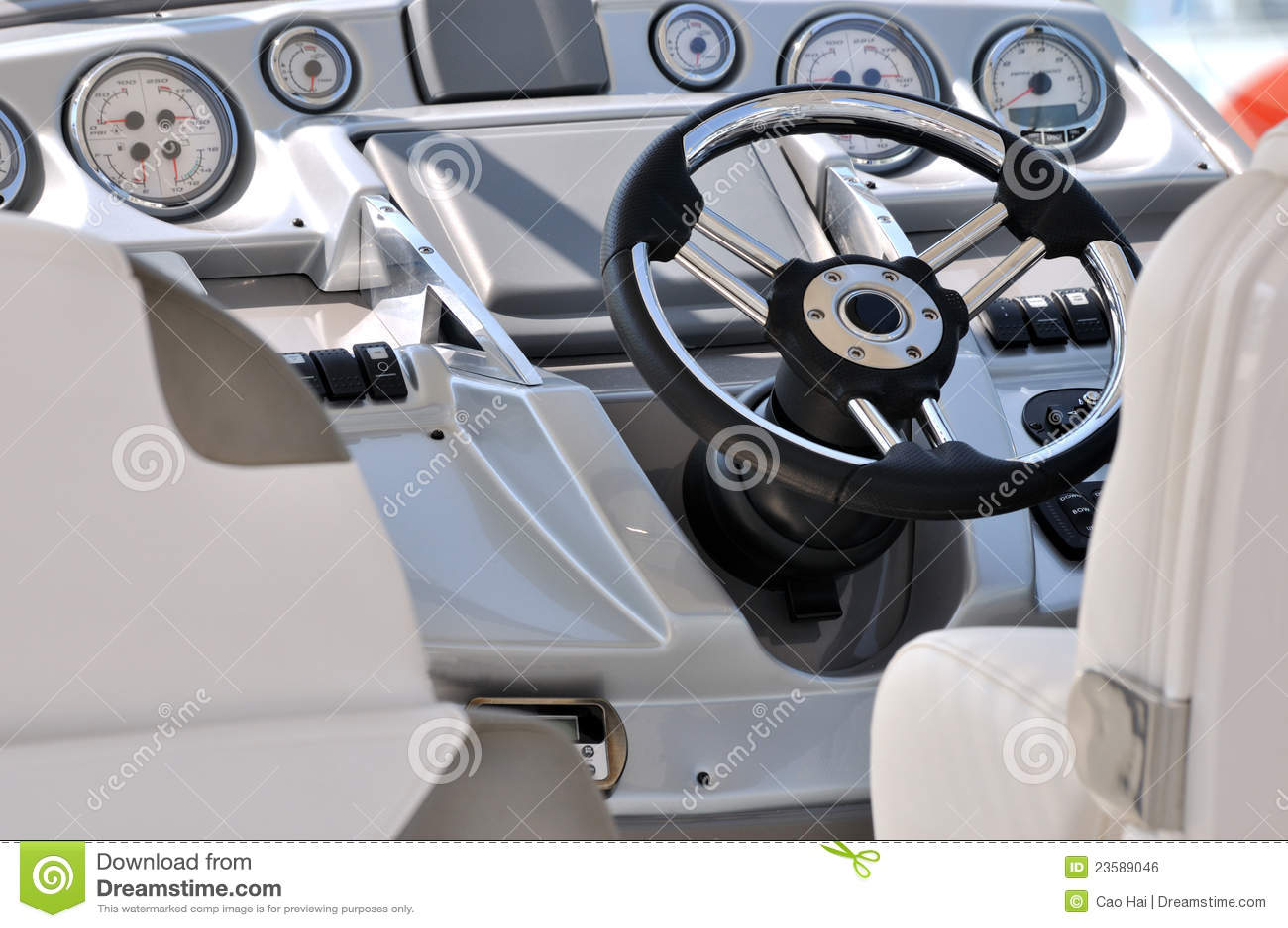Kontrollera yachten för gagestyrningshjulet