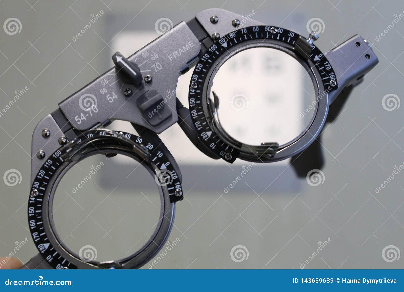 Kontrollexponeringsglas för visuell skärpa