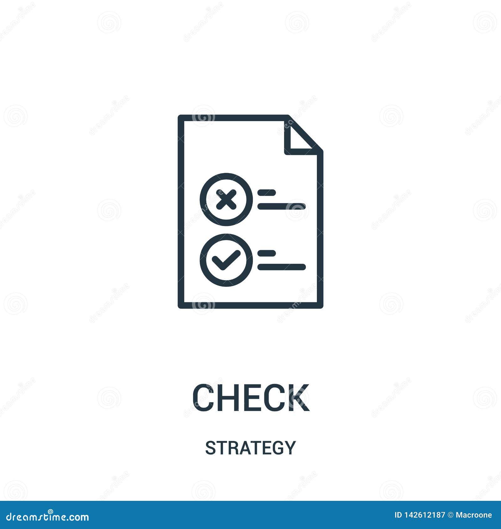 Kontrollikonenvektor von der Strategiesammlung D?nne Linie Kontrollentwurfsikonen-Vektorillustration Lineares Symbol