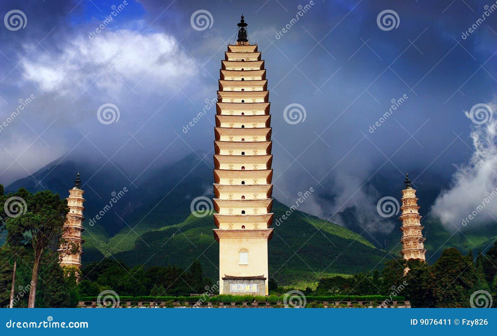 Kontrolltürme des Chong-San-Tempels drei
