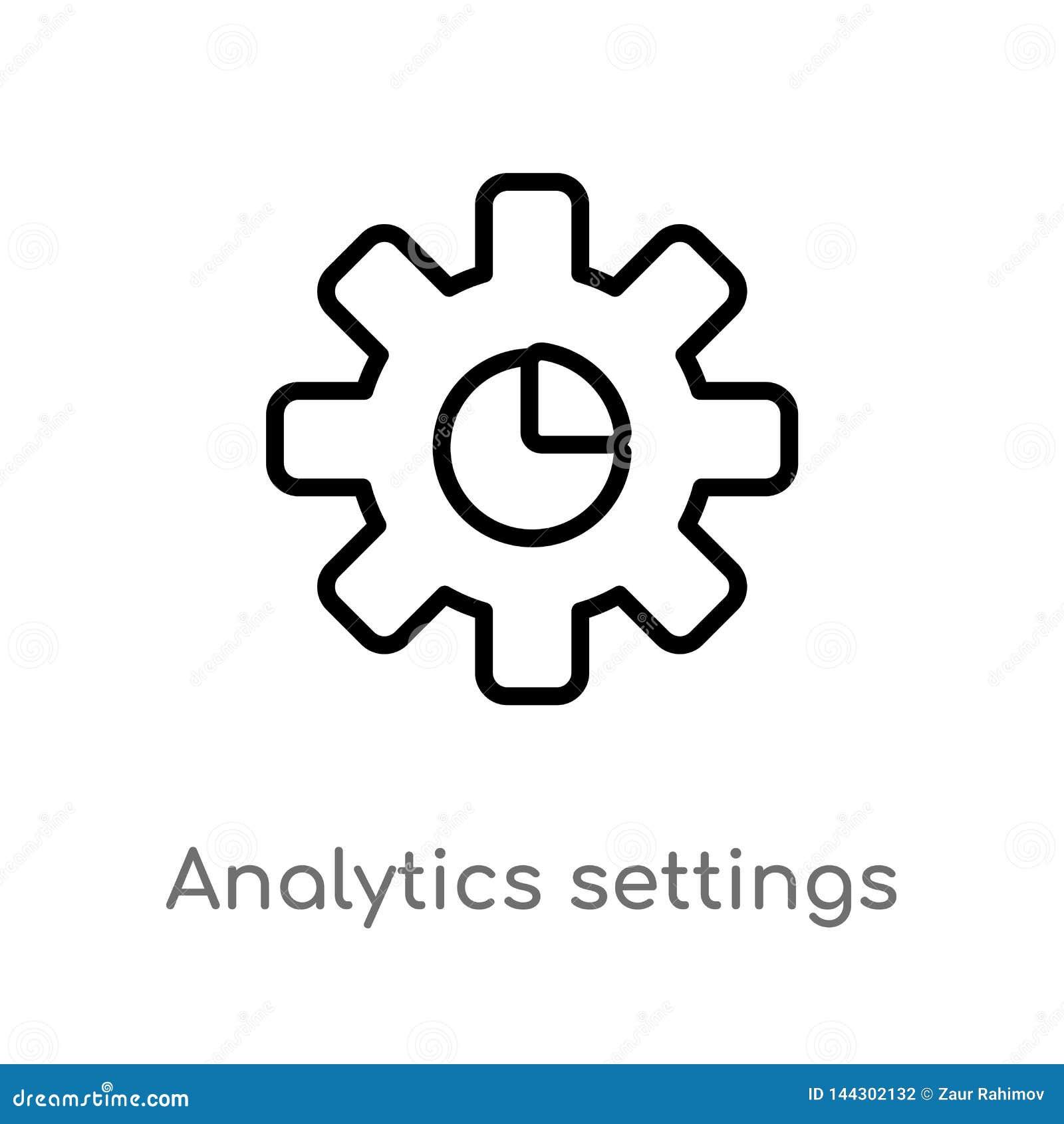 Kontur analityka położeń wektoru ikona odosobniona czarna prosta kreskowego elementu ilustracja od interfejs u?ytkownika poj?cia