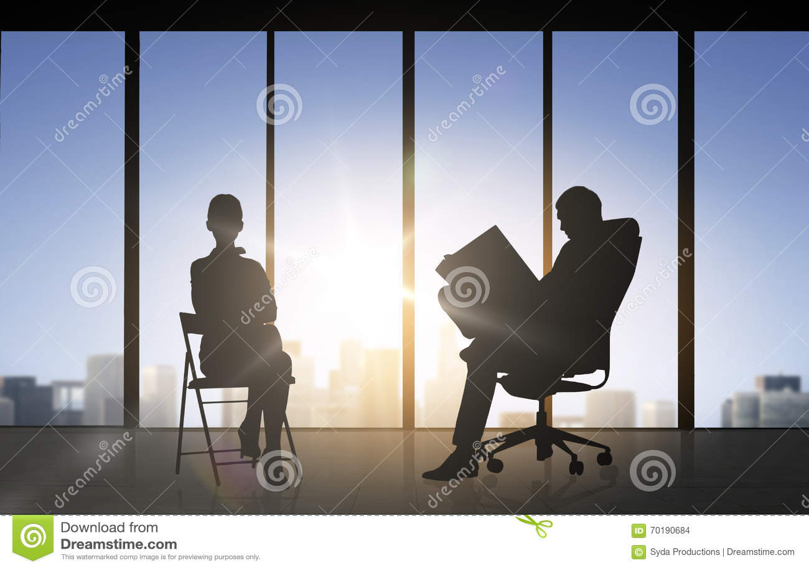 Kontur av affärsfolk som arbetar på kontoret