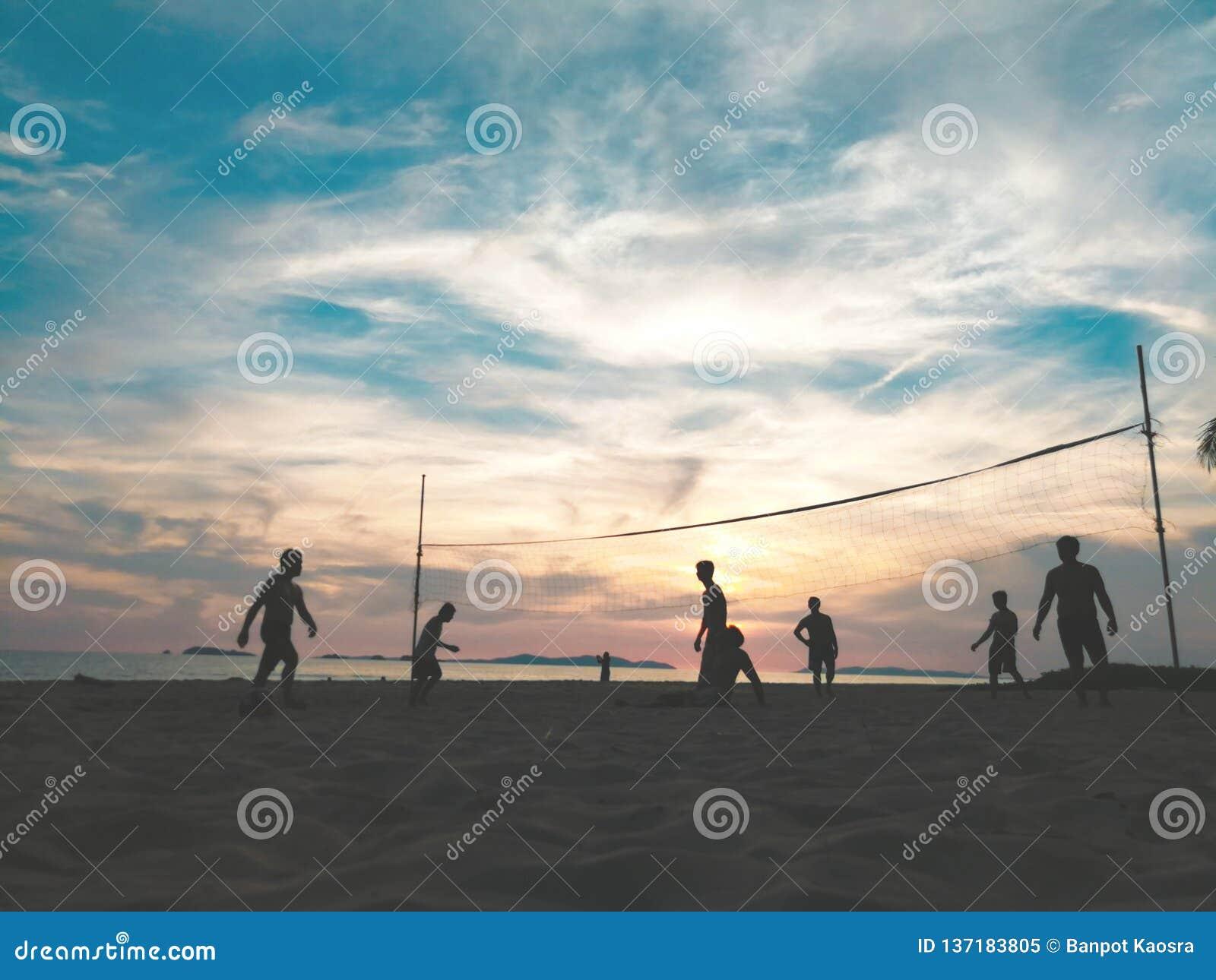 Kontur av strandvolleyboll