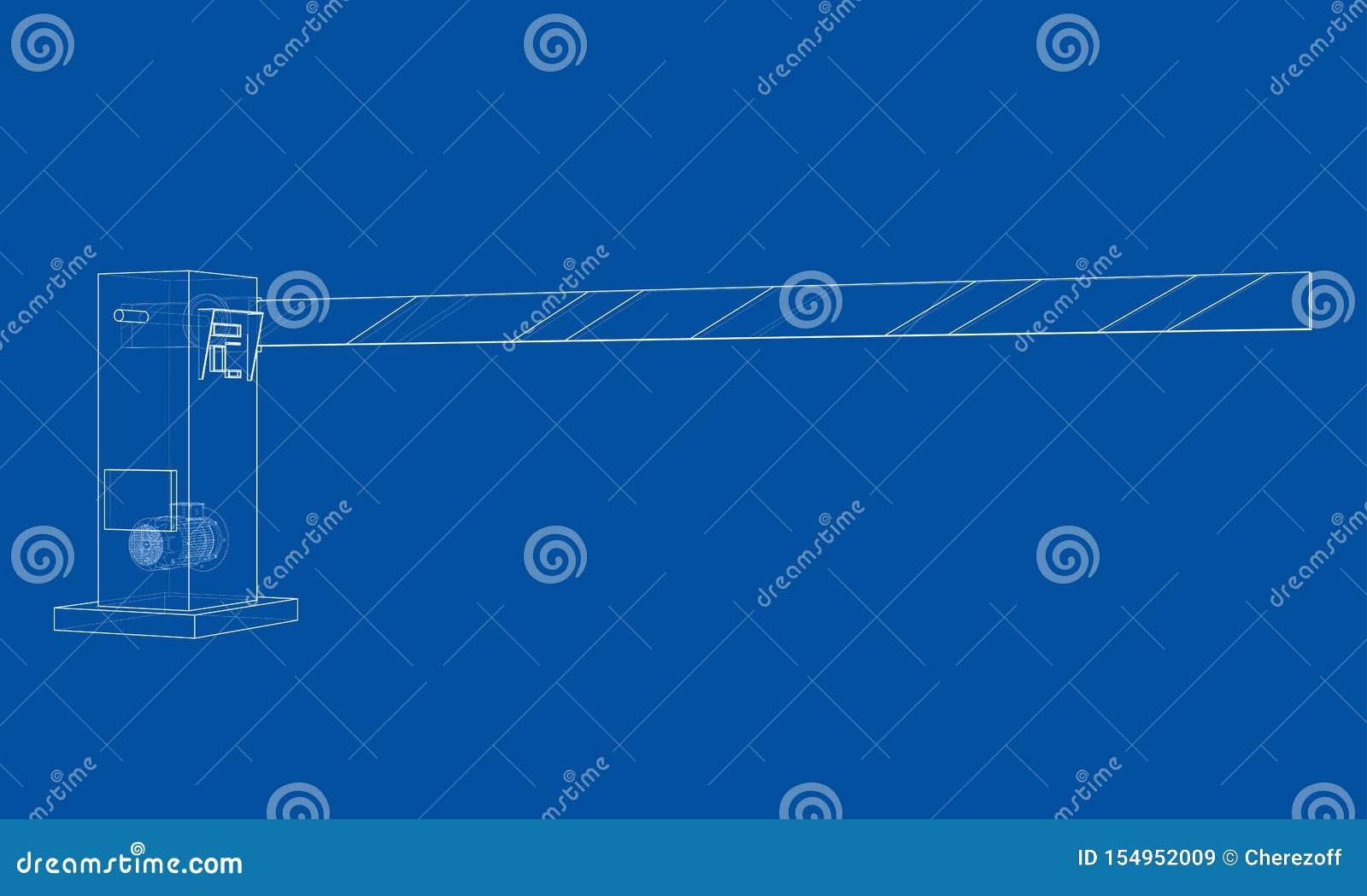 Kontur bariery brama wektor
