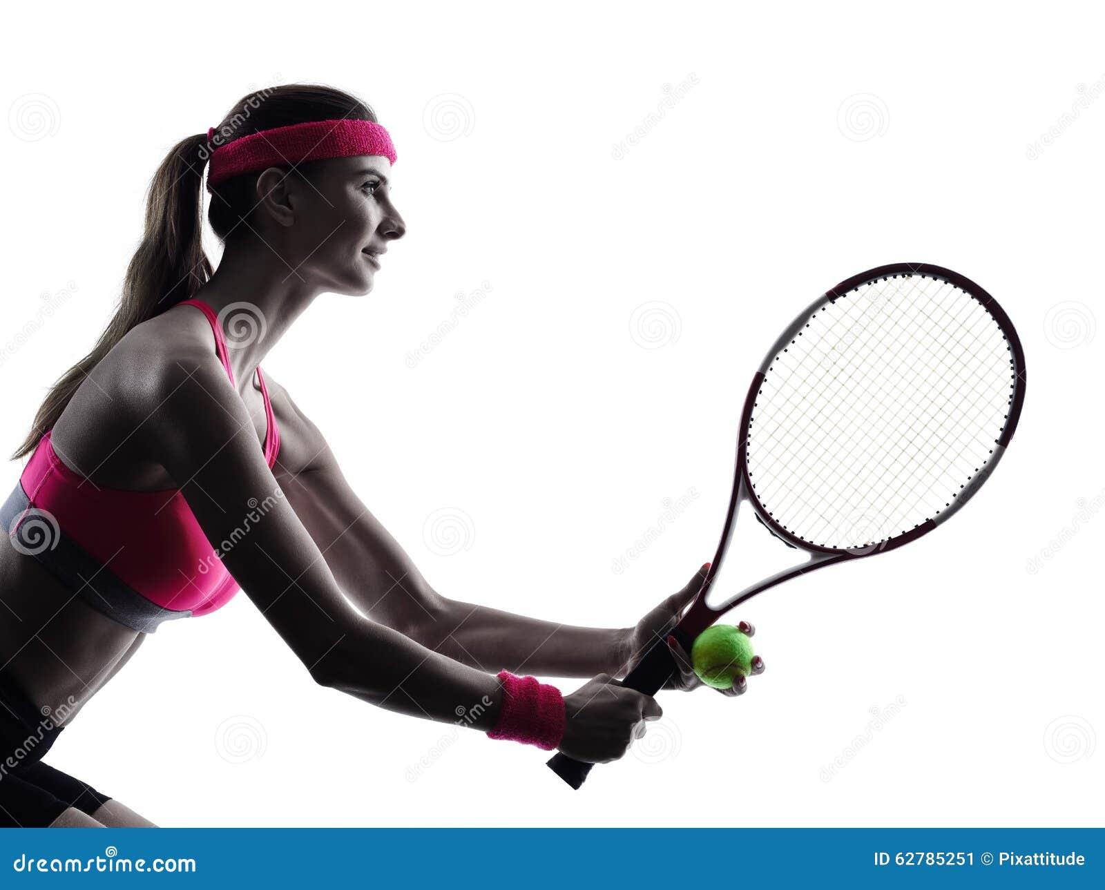 Kontur för kvinnatennisspelarestående