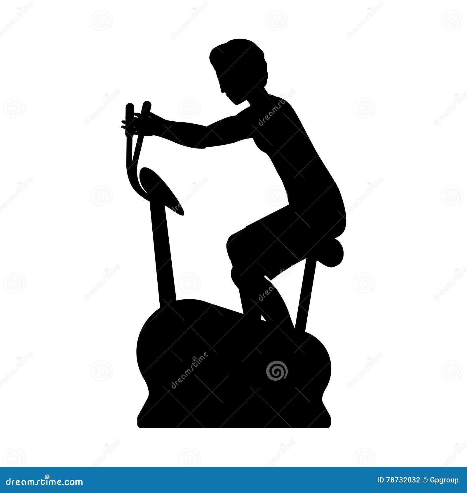 Kontur med den statiska cykeln för man