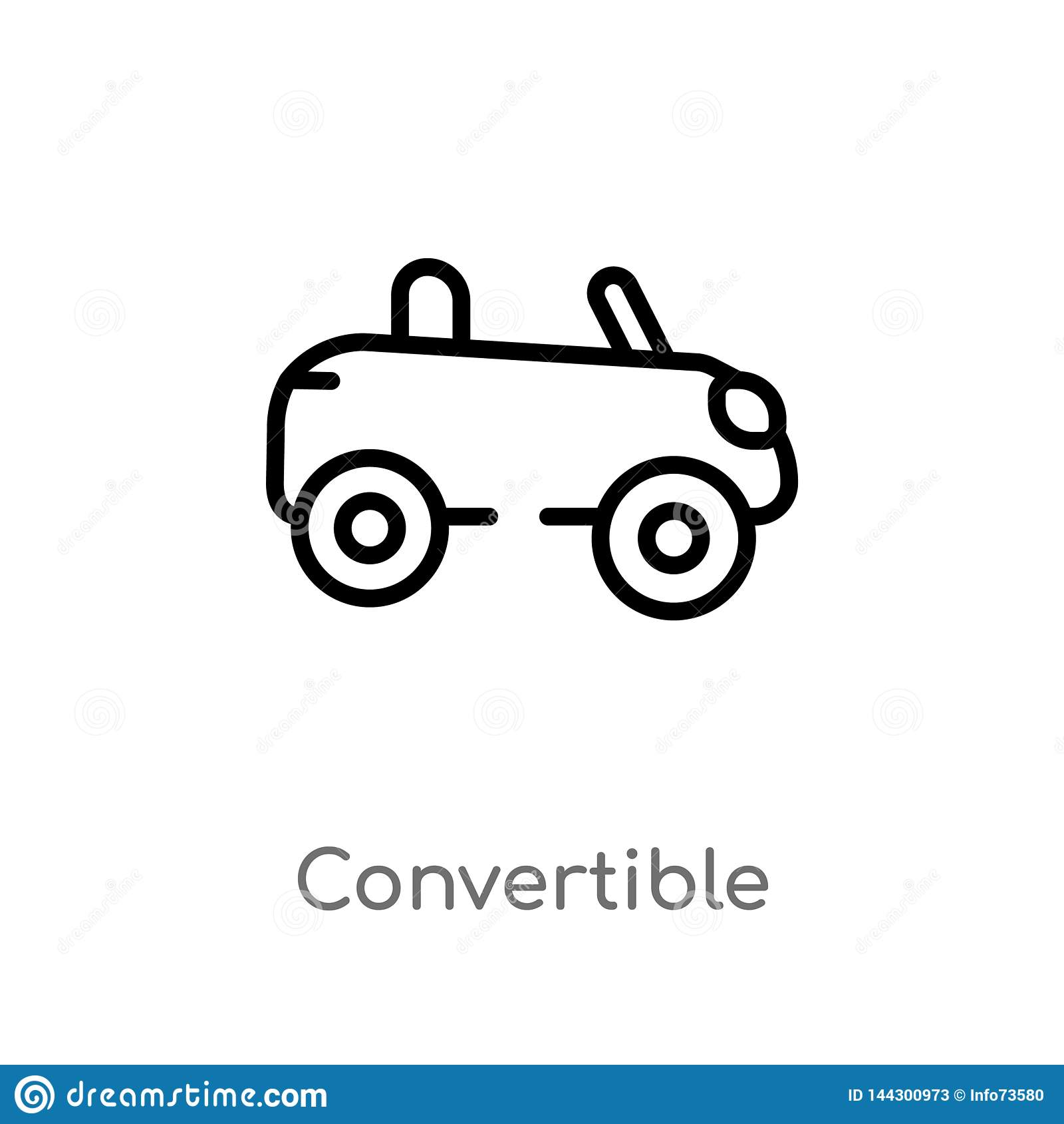 Kontur odwracalna wektorowa ikona odosobniona czarna prosta kreskowego elementu ilustracja od transportu pojęcia Editable wektor