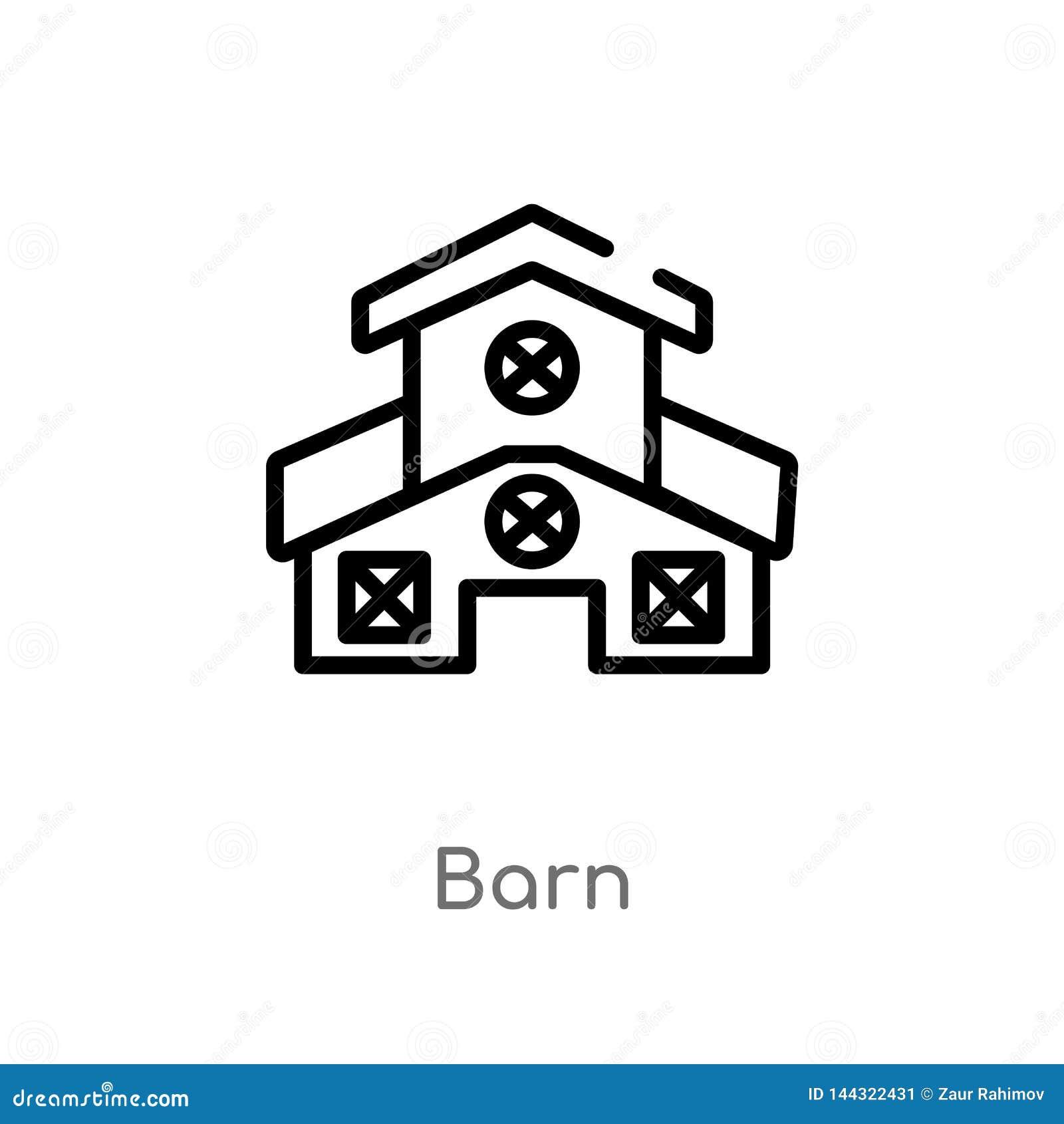 Kontur stajni wektoru ikona odosobniona czarna prosta kreskowego elementu ilustracja od uprawiać ziemię pojęcie editable wektorow