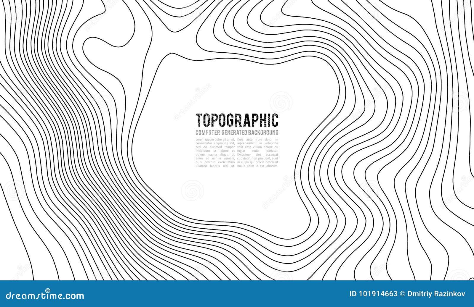 Konturbakgrund för Topographic översikt Topo-översikt med höjd