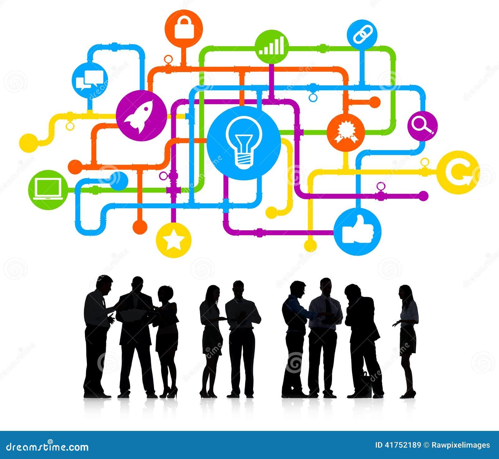 Konturer av begrepp för idé för affärsfolk
